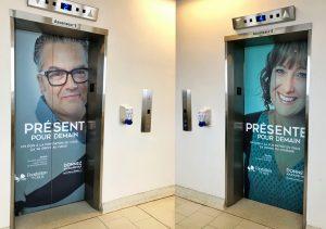 Habillage de portes dascenseur Fondation du CHUS