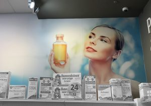 Habillage mural Pharmacie Brunet