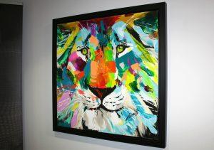 Serigraphie artistique Tableau Lion de Mirazed par Adornetto