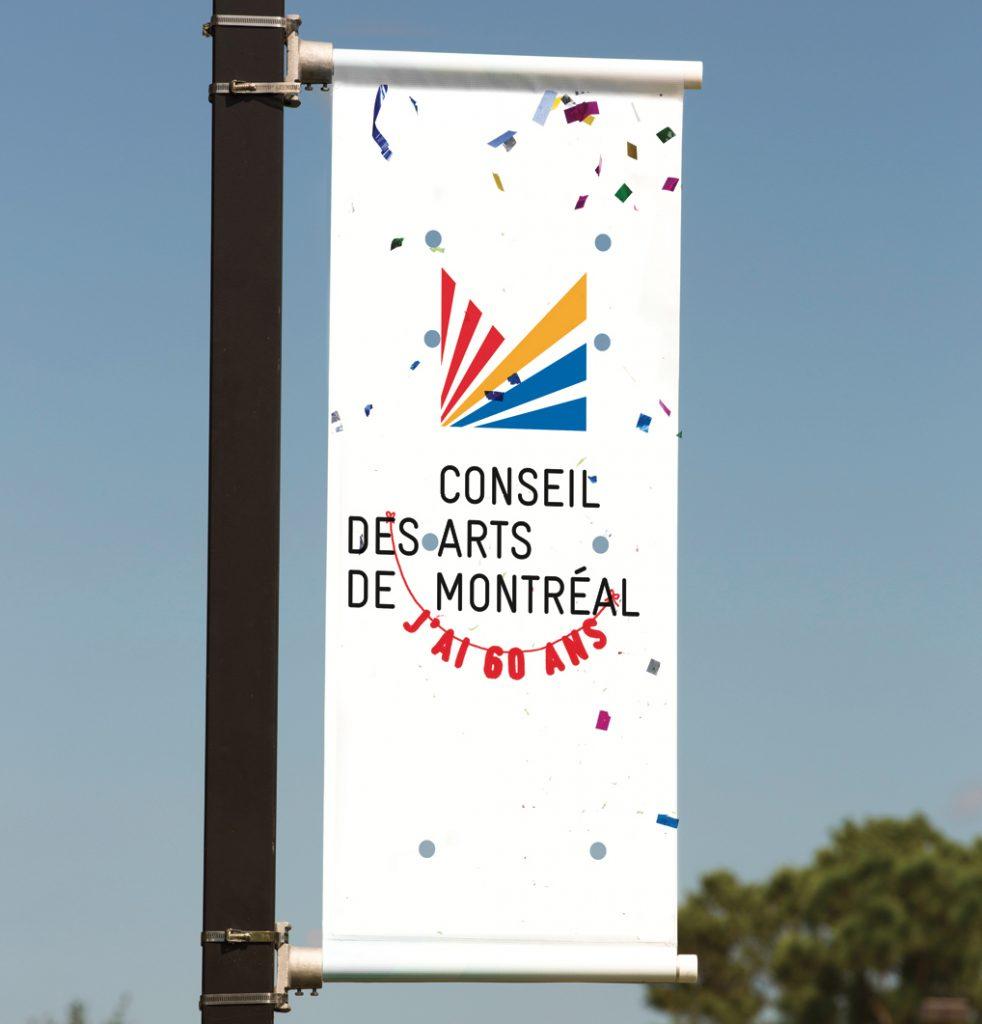 Bannière Conseil des arts de Montréal