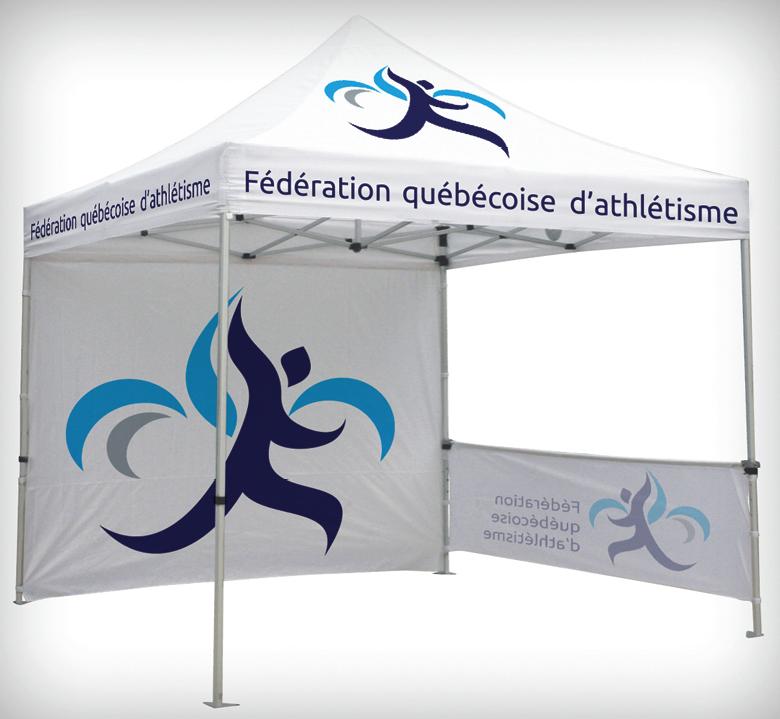 Tente évenementielle Fédération québécoise dathlétisme
